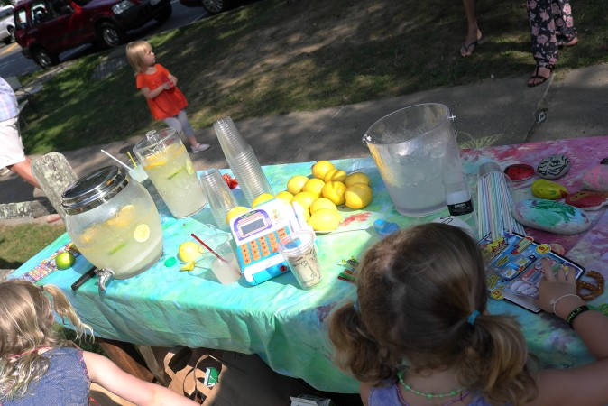 Kids are selling lemonade outside, thats a success!