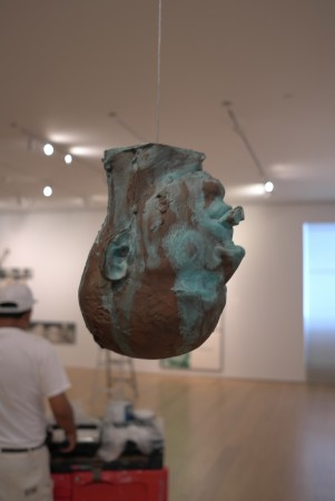 Bruce Nauman hanging head