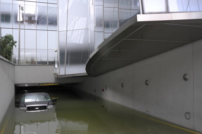 IAC Building parking lot  ...  now requires a snorkel