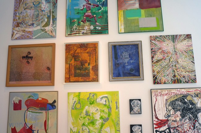 How's this Salon hanging? I see Kippenberger, Schutz, Meese, Grotjahn and more.