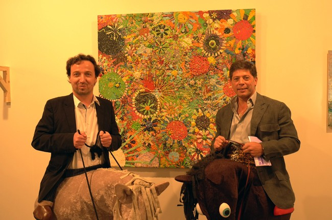 Well, contrary to what Artforum's conservative, boring and politically-correct bloggers blabber, some dealers still like me! So, Emmanuel Perrotin and I ride off into the Gelitin sunset.