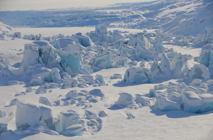 Look at the Tordrillo glacier covered in snow, it's exquisite. I chiped off the ice and poured my scotch on it every night.