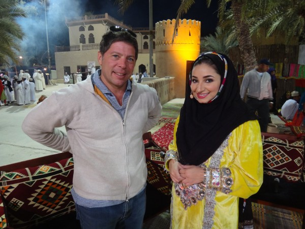 I'm standing with the Barbara Walters of Qatar.