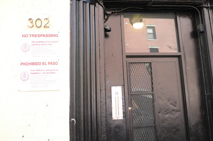 Here's the entrance to Richard Kern's studio and apartment