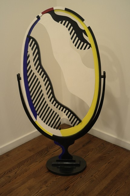 Lichtenstein Victorian mirror looks trippy and ominous in the townhouse setting.
