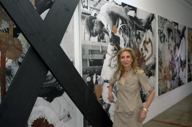 Lorinda Ash poses in front of the Kelley Walkers.
