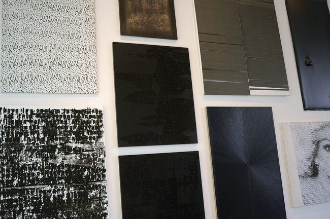 Here's this year's Rosa de la Cruz museum show. She hung some really good stuff too, but in addition to it being good, she put it together beautifully. See Wool, Ligon, Kassay!, Grotjahn, Guyton, Price and Lowman on one wall – looks chic.