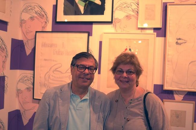 Bob Colacello and Donna di Salvo in Warhol heaven at L&M.