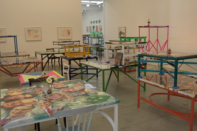 Fill a gallery with tables?