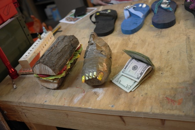 So I bought a sandwich and a foot for cash ---gnarly.