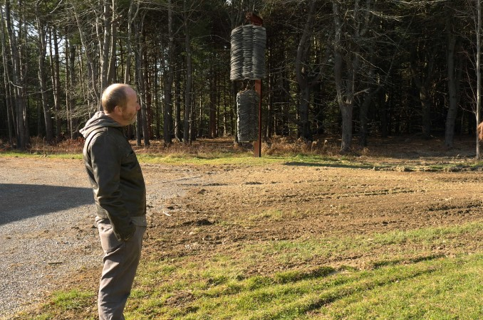 Richard Prince gets pensive admiring tire sculptures