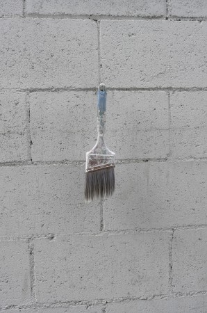 A little touch of Rauschenberg I spied hanging on the wall.