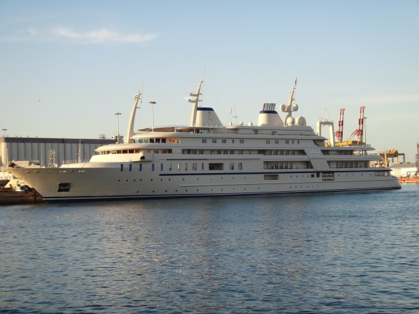 The Sultan of Oman's yacht.