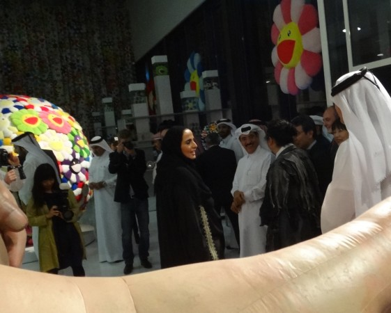 There's Sheikha Al-Mayassa, she's the head of the QMA, the Qatar Museum Authority… this is her first mega show, it's an exciting moment!