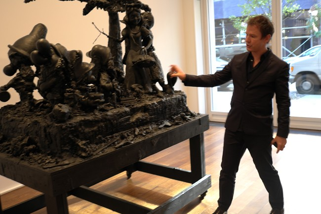 Hauser & Wirth honcho Marc Payot in an action shot