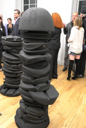 there's a big one, sort of Louise Bourgeois meets Richard Serra over a Brancusi