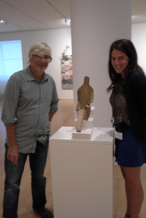 Here's Josh and Jackie from Sotheby's, with a Nauman maquette-what are they so happy about?