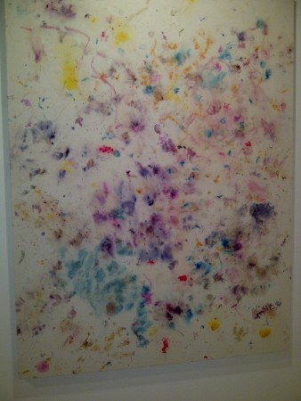 Pretty flower paintings, see Cy Twombly done with mushed flowers?
