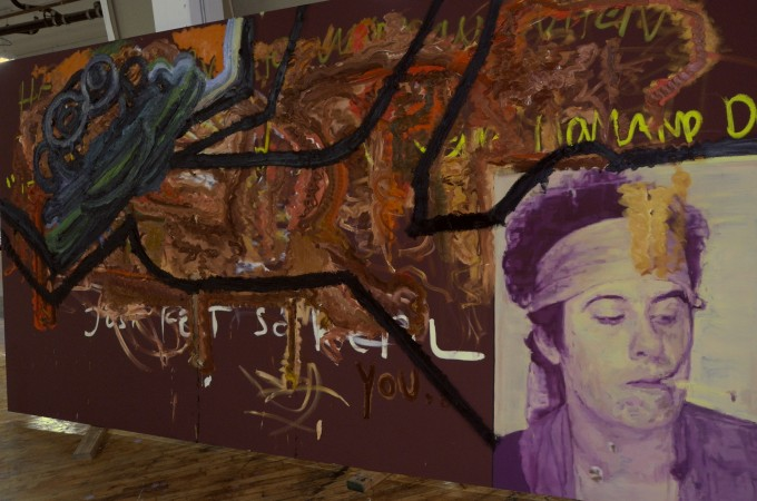 This is Bjarne's big painting.