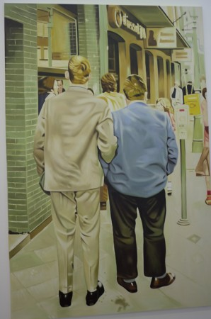 They look identical to the originals, which were themselves not painted by Kippenberger.