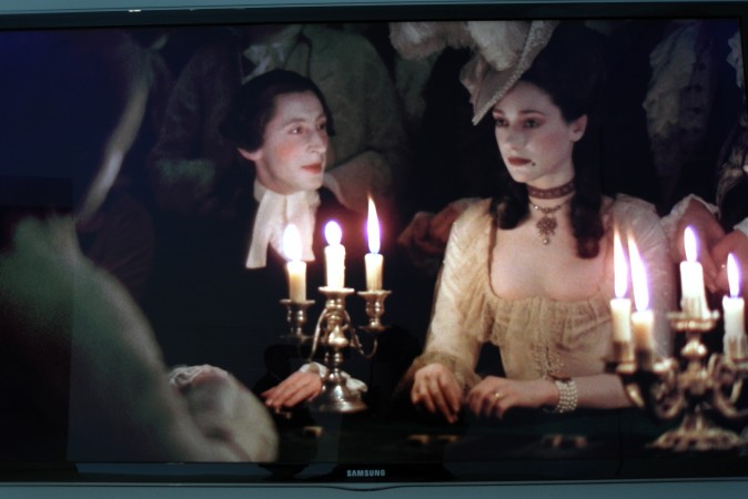 Barry Lyndon, shot by candlelight