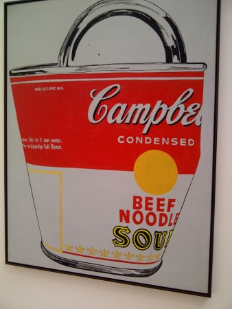 Large crushed soup can wows