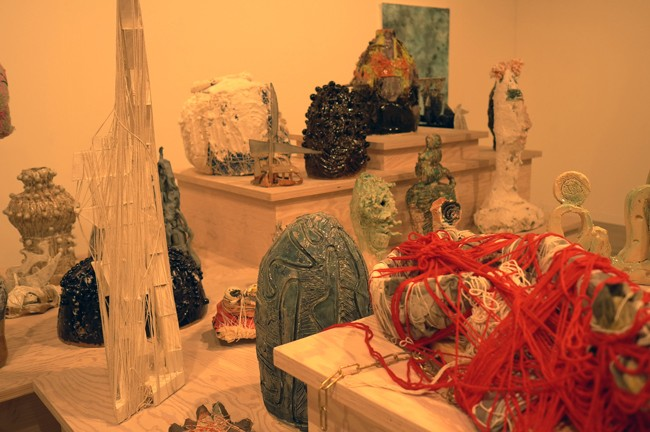 Wow, Marianne Boesky's ceramic installation was SOOO ugly, I even bought one! Yeah!