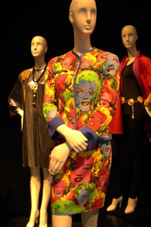 Whoa, Versacce outfit with Warhol Marilyns as worn by Liz Taylor? Who needed drugs in those days?
