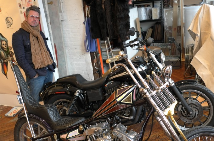Bill Powers took me over to visit Wes Lang in his studio, check out this retro custom chopper, I love it.