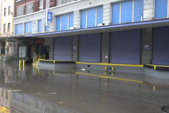 Streets were still flooded