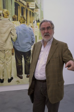 There's Marc Blondeau, he's an <i>éminence grise</i> in Geneva's art world.