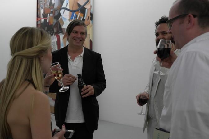 Rob Pruitt with Mathew Higgs and Gavin