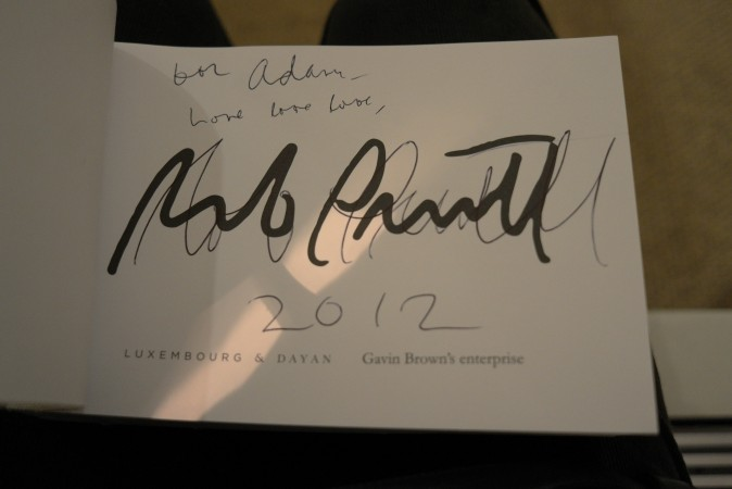 Hey, Rob signed my signature book! Fancy that! Tune in for round two next week!