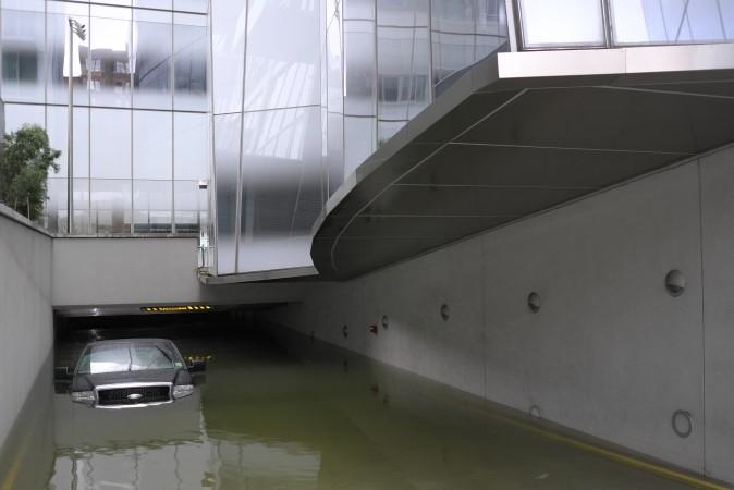 IAC Building parking lot  ...  now requires a snorkel
