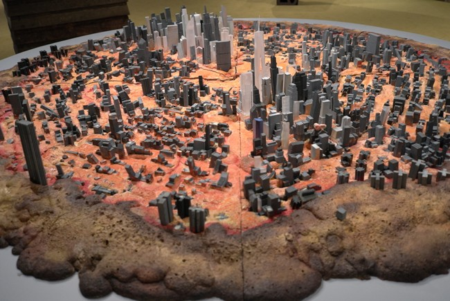 New York as a pizza. Don't give me a slice, I'm gluten free.