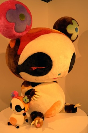 Oh yes, Murakami can do ugly, but it's cuddly too, so — you, panda and baby, are OUT.