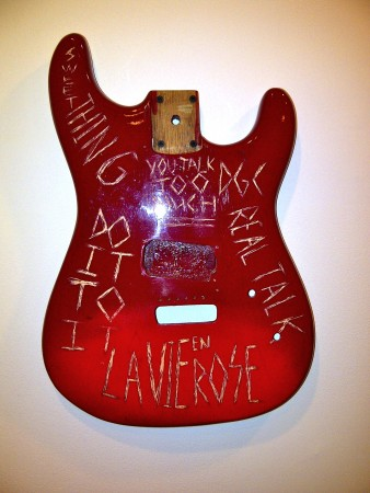 Scratchitti guitar bought by the hippest fashion photographer