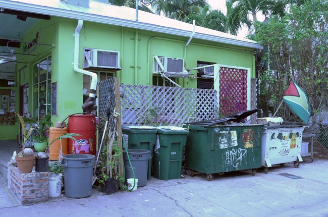 Lots of interesting garbage receptacles.