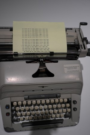 The typewriter from