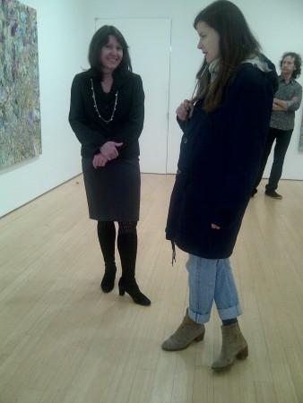 Loretta Howard chats with Poons fan
