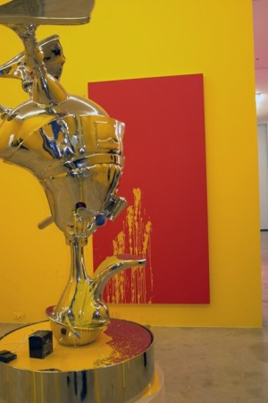 Richard Jackson paint pee-pee machine? I prefer Damien's spin paintings by a factor of of of of of…