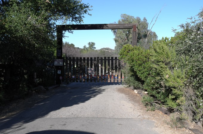 We're approaching Chris Burden's property deep inside the fabled Topanga Canyon, far from the hustle and bustle of LA.