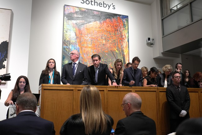 Alex Rotter seems puzzled that a Clyfford Still could be worth $61m
