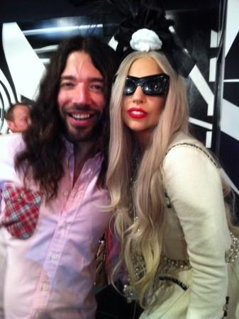 Strike a pose. Eli Sudbrack & Lady Gaga… separated at birth.