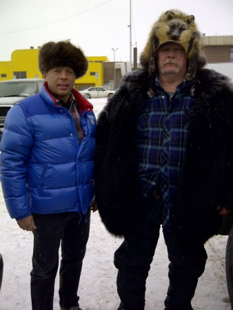 That's me in Anchorage with Wild Bill, he sold me this beaver hat out of his pick up truck.