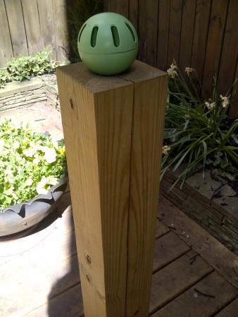 Aluminum Wiffle balls - a new sculptural form