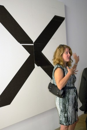 """Wade Guyton's popular """"X marks the spot"""" occupies Miami."""