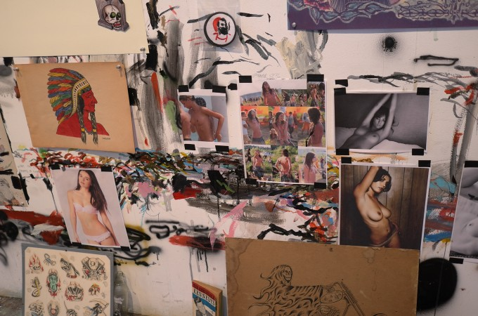 Wes likes frontal nudity, the walls of the studio show you why.