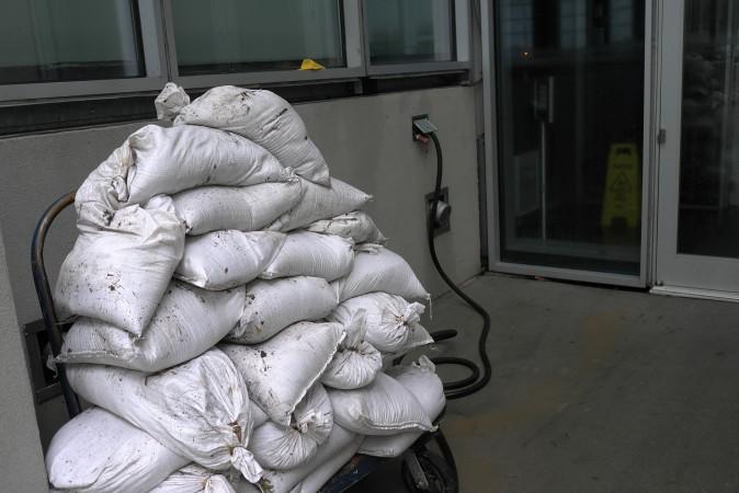 Sandbags helped
