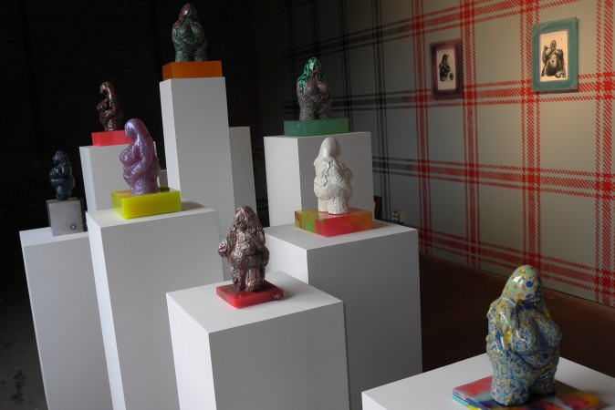 So what did I like?? I like David Pappaceno's show at English Kills gallery- these psychedelic maternity figures remind me of the Ur figure done by Ken Price on a vintage acid trip……so I picked up several… check it out, there may be one left.